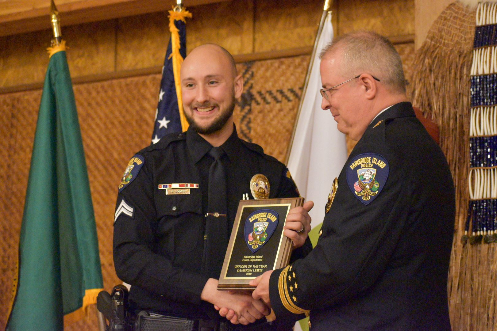 Corporal Cameron Lewis, Officer of the Year 2019